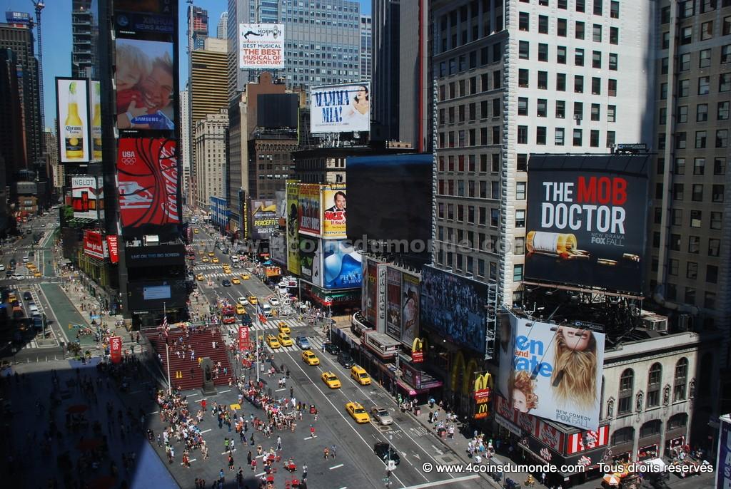 La meilleure vue de Times Square