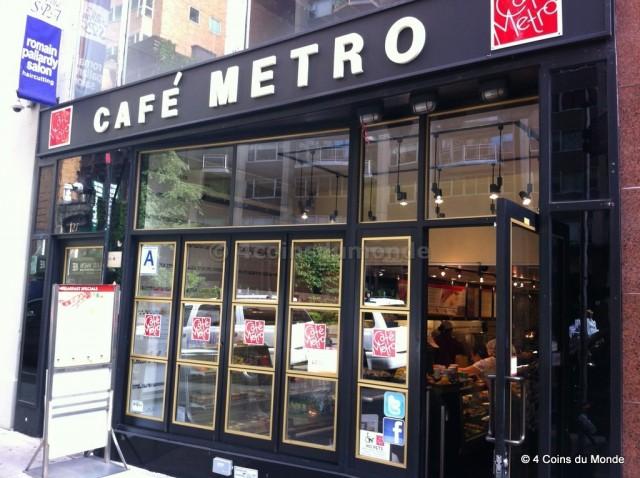 Le Café Métro pour un super petit dejeuner new york Manhattan pas cher