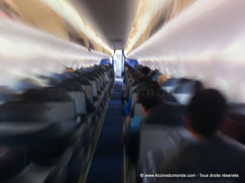 prendre l'avion en étant claustrophobe
