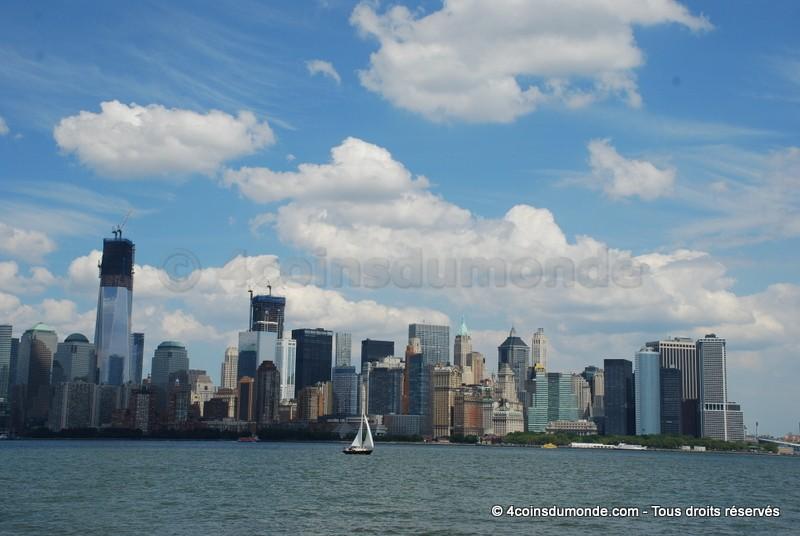Une vue exceptionnelle sur Manhattan depuis Ellis Island