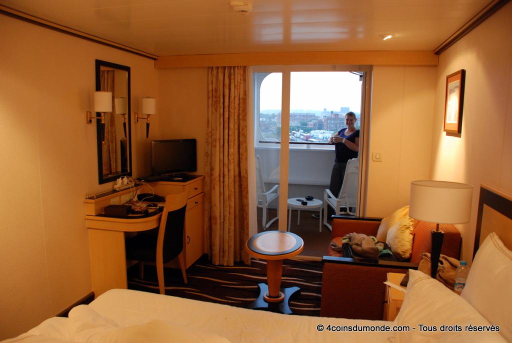 7 jours dans notre cabine balcon à bord du QM2