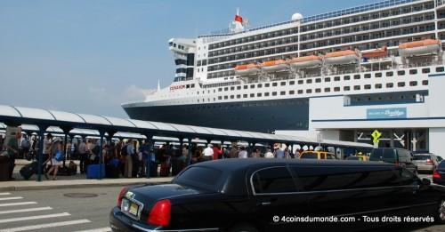 Embarquement et débarquement à bord du QM2 Mode d'emploi
