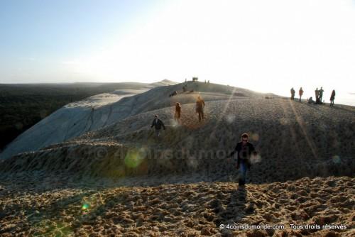 La dune du Pilat difficile mais magnifique en hiver