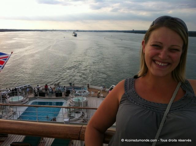Nous quittons le port de Southampton direction New York dans 7 jours