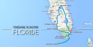 L'itinéraire de notre roadtrip en Floride