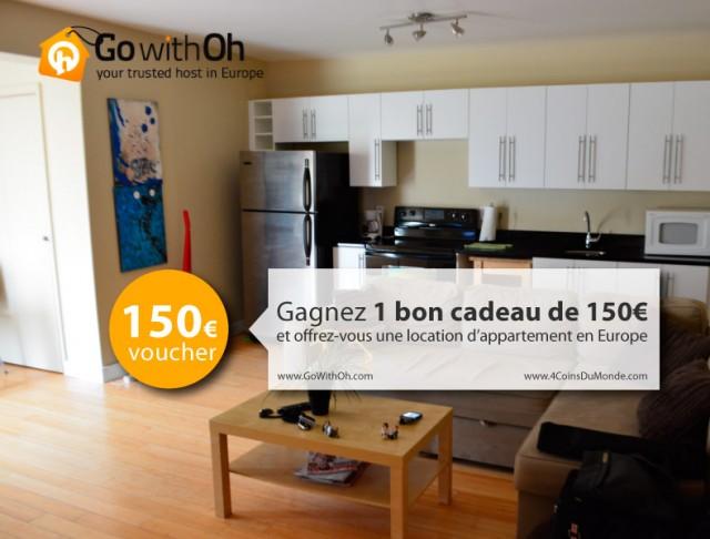 150-euros à gagner pour une location d'appartement partout en Europe avec GoWithOh