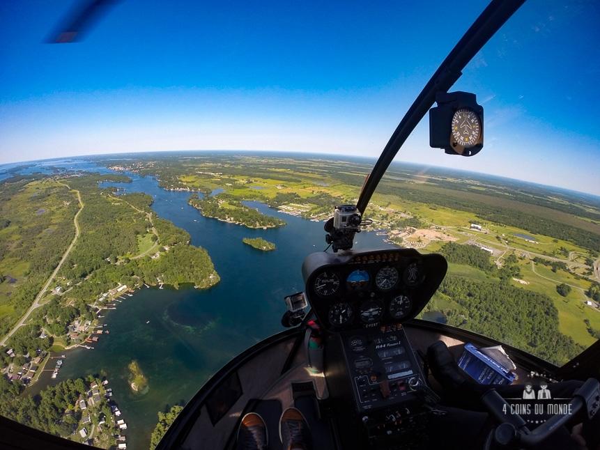 activités insolite 1000 iles hélicoptère Gananoque Ontario Canada