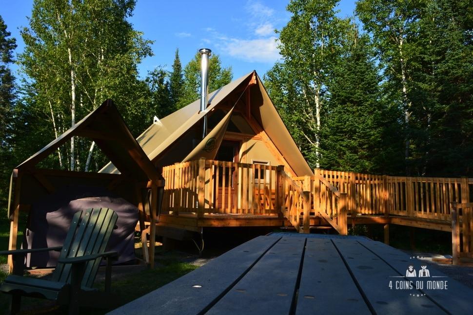 Hébergement insolite Canada Quebec Parc de la Mauricie