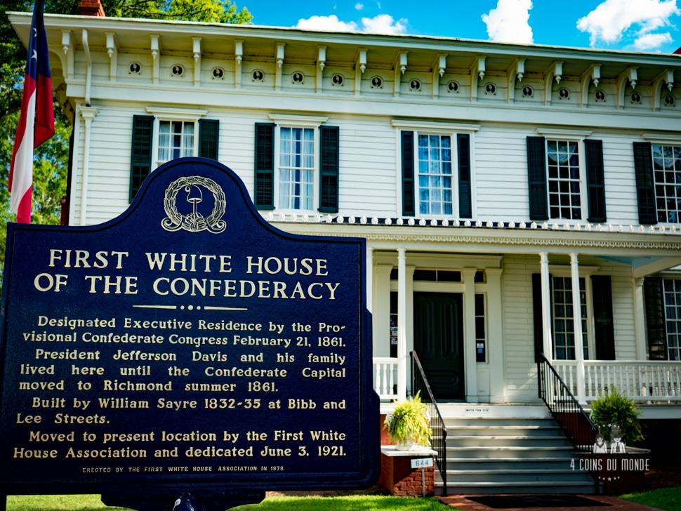 La premiere Maison Blanche des etats du sud Montgomery Alabama